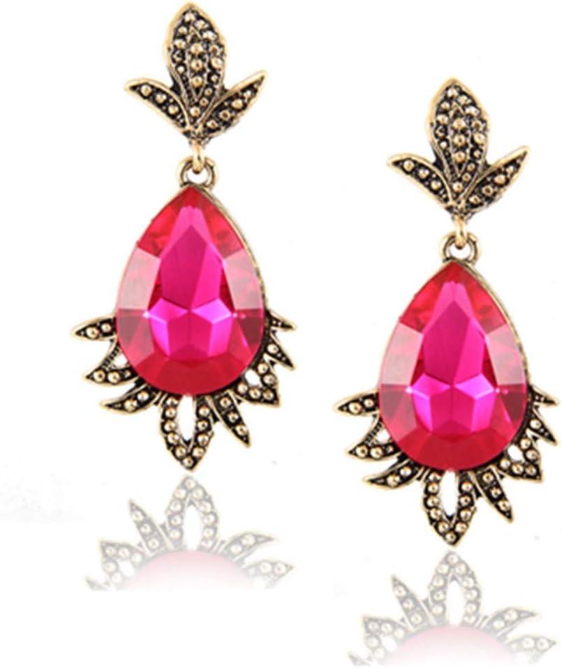 XAFXAL Pendientes,Aretes,Elemento Moda Cuarzo con Gancho para La Oreja para Las Mujeres Chica Stud Earrings Mejor Regalo Joyeria