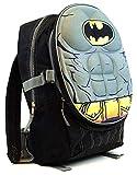 Dc Comics Batman 'Molded Chest' 16' Children's School Backpack (Batman with Belt pack)