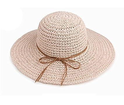 Sombreros Sombrero de paja visera de verano sombrero de protección solar sombrero  de pescador plegable sombrero a077e21d1d6