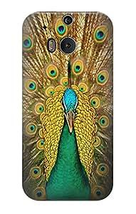 E0513 Peacock Funda Carcasa Case para HTC ONE M8