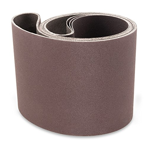 4 X 36 Inch 80 Grit Aluminum Oxide Premium Quality Metal Sanding Belts, 3 Pack by Red Label Abrasives