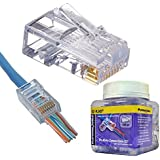 Platinum Tools 202010J RJ-45 Category 6 EZ Style Connector 100/Jar