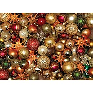 Cobblehill 85012 500 Pc Palle Di Natale Puzzle Vari