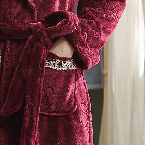 Tamaño De Gran Chica Caliente Liulife Bata Hogar Dormir Otoño Franela Albornoz Ropa Mujer Encaje Baño Invierno Red Casual q8gtgw