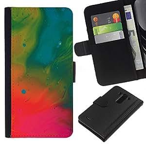 All Phone Most Case / Oferta Especial Cáscara Funda de cuero Monedero Cubierta de proteccion Caso / Wallet Case for LG G3 // Wallpaper Oil Painting Neon Art Drawing