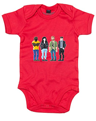 Price comparison product image Pixel Heroes,  Baby Grow - Red 0-3 Months