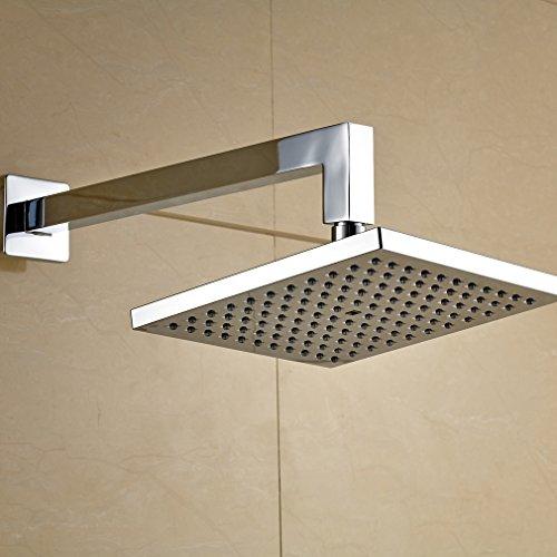 50%OFF ROVATE 8 Inch Square Overhead Shower Head, ABD 1/2 Connector Rainfall Shower Head Bath Top Shower Spray for Bathroom, Chrome