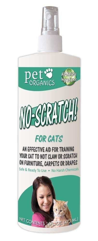 Pet Organics No Scratch Spray for Cats 16oz new