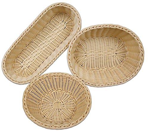 3 Piece Poly-wicker Oval Nestable Basket