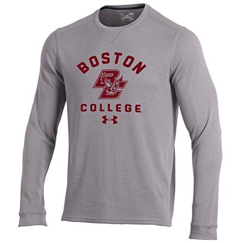 NCAA Boston College Eagles Men's Waffle Knit Long Sleeve Tee, Large, True Grey ()