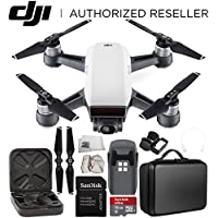 DJI Spark Portable Mini Drone Quadcopter Starter Portable Bag Shoulder Travel Case Bundle (Alpine White)
