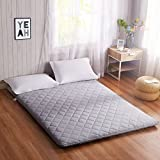 FDCVS Tatami mattress thicker solid color folding student dormitory warm bedroom floor-A 90x200cm(35x79inch)