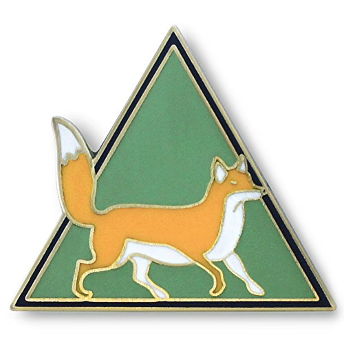 Dorrarium-Mr-Fox-Lapel-Pin-Enamel-Pin-Hat-Pin-Vintage-Surplus-Badge