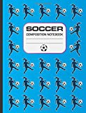 Soccer Composition Notebook: 120 page notebook for writing, wide ruled. Glossy softcover, perfect
