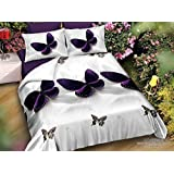 Shopcrats 3D- Butterfly Printed Double Bedsheet with 2 Pillow Coverss.