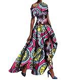 Women's Dashiki Set Long Pants Slim Fit Africa Club Maxi Dress 6 5XL