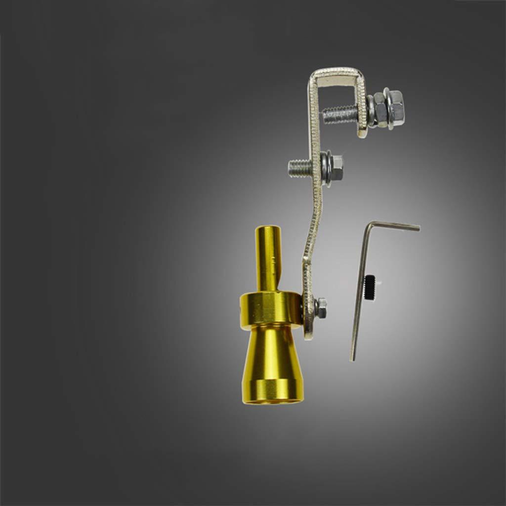 Soccik Turbo Sound Auspuff Rohr Pfeife Geringes Gewicht Turbo Sound Whistle Abgasventil BOV Simulator Pfeife Langlebig Turbo Sound Pfeifen Auspuff Endrohr Blow-off Ventil Aluminium