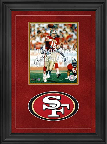 "Sports Memorabilia San Francisco 49ers Deluxe 8"" x 10"" Vertical Photograph Frame with Team Logo - Football Other Display Cases"