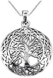 Mystic Celtic Frame Tree of Life .925 Sterling Silver Pendant
