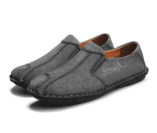 Mocasines de Vestido de conducción de los Hombres Mocasines de Conductor de Cuero de Ante Resbalón en los Zapatos: Amazon.es: Zapatos y complementos