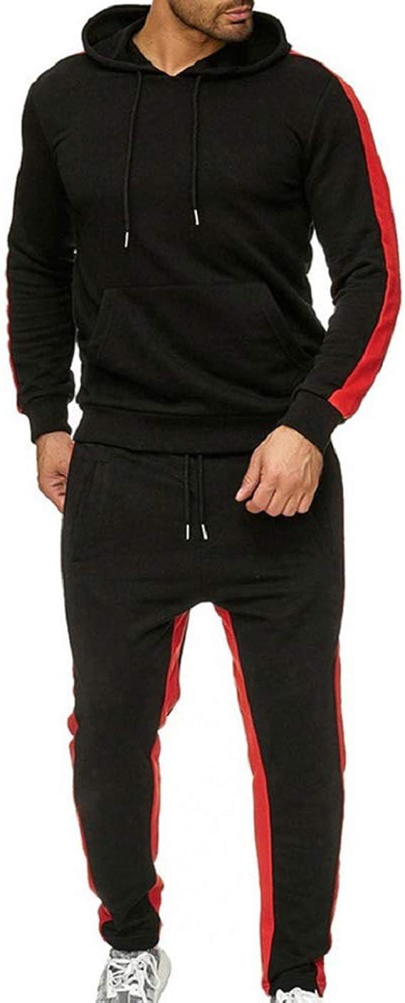 Homme Casual Ensemble Surv/êtement Jogging Slim Sweat /À Capuche Sportswear Pantalons 2 Pi/èces