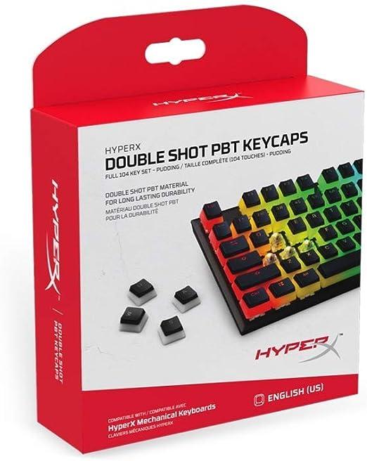 HyperX HXS-KBKC3 Double Shot PBT Gaming Keycaps, Compatibles con Teclados Mecánicos de HyperX para Juegos, Incluye el extractor de teclas de HyperX ...