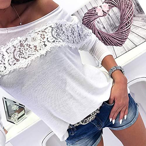 Con Maglione Forti Maniche Felpe Sexy Camicetta Pullover Blusa Dalla Da Tumblr Lunghe Spalla Beige Maglia Weant Magliette Casual Cappuccio Donna Elegante Pizzo Maglietta Top Taglie PBzpwqHx