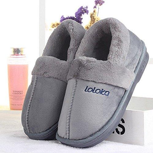 43 aux sac coton chaud et et antidérapants épais accueil Sac chaussons coton femmes piscine Convient pantoufles chaussures fond et d'hiver pieds41 épais hommes 42 42 de Zxpw1g