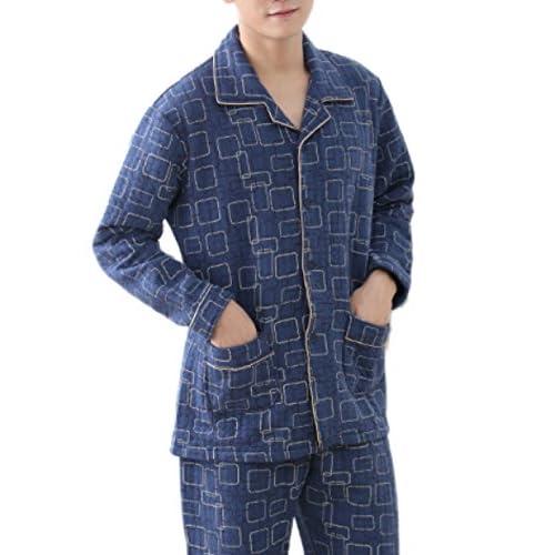 fceba8fc17 hot sale Pijama De Algodón De Manga Larga Para Hombre Con Comodidad Pijama  De Algodón Suave