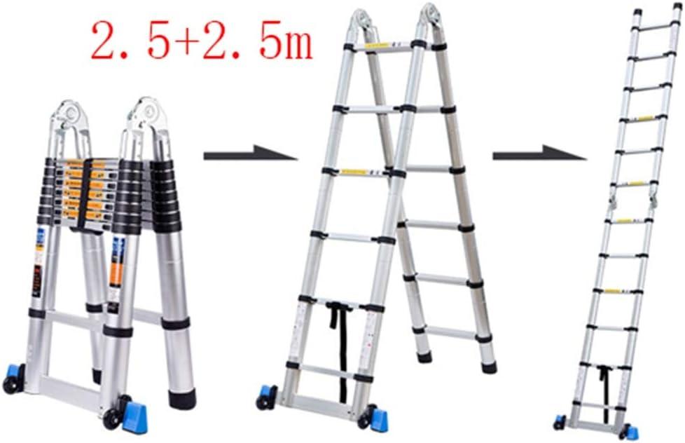 YIXINY escalera plegable multifunción, escalera de aluminio tipo A escalera/escalera recta, en línea con estándar EN131, rodamiento 150 kg: Amazon.es: Bricolaje y herramientas