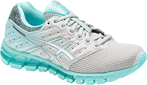 ASICS Womens Gel-Quantum 180 2 MX Running Shoe, Mid Grey/Aruba Blue/Mid Grey, Size 7.5