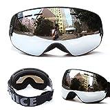 Unisex Outdoor Windproof Dustproof Ski Goggles Double Lens Anti-Fog Big Spherical Professional Ski Glasses Mirror Multicolor Snow Goggles
