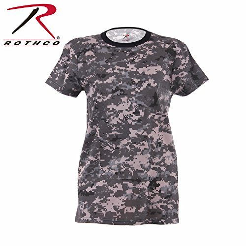 (Rothco Women's Longer T-Shirt, Subdued Urban Digital, Medium)