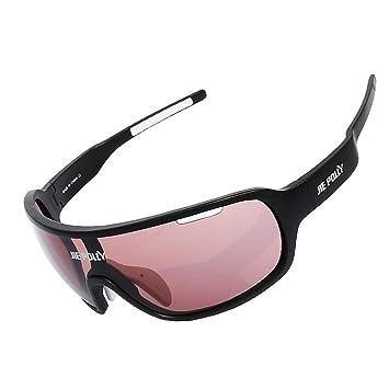 Männer und Frauen Outdoor Sports Gläser Anti-Uv Polarisierende Sonnenbrillen Full-Frame Anti-sand Reitbrillen für Angeln und Klettern , black