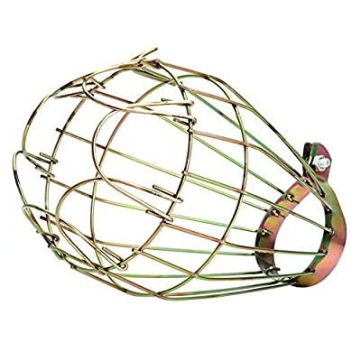 RoseSummer Industrial Vintage Style Top Black Light Cage for Metal Lamp Guard