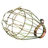 BleuMoo Industrial Iron Wire Bulb Guards Clamp Metal Lamp Cage Retro Trouble Light Parts