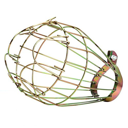 Wire Cage Clamp Lamp - BleuMoo Industrial Iron Wire Bulb Guards Clamp Metal Lamp Cage Retro Trouble Light Parts