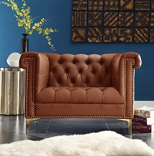 Dark Brown Full Leather Club - 2