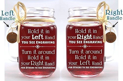 Bride and Groom Wedding Mason Jars for your Western Wedding Personalized with Name and Date. by Design Imagery Engraving (Image #1)