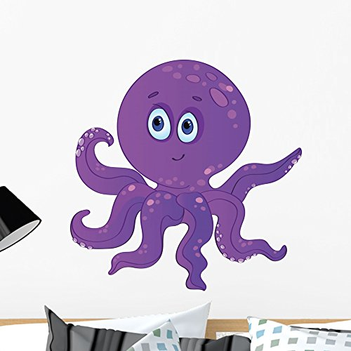 Wallmonkeys Cute Baby Octopus Wall Decal Peel and Stick Graphic (24 in W x 24 in H) WM242924