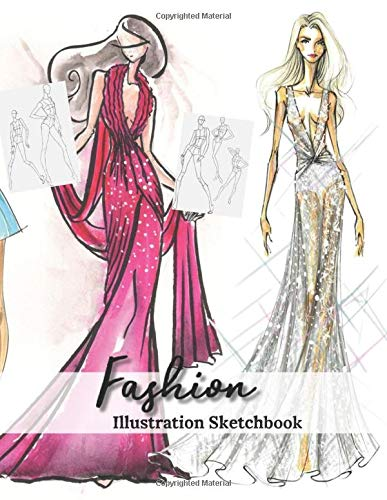 Fashion Illustration Sketchbook Female Model Figure Drawing For Fashion Designer To Create Women Ware Design Sketches Pictures Sketching Idea Portfolio Fashion Croquis Templates Sketchpad Studio Pretty Function 9781676247395 Amazon Com Books