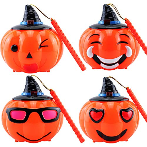Halloween Pumpkin Lights Kid Dooior Hand Portable Lanterns Ghost Festival Props Lights Decoration Called Horror]()