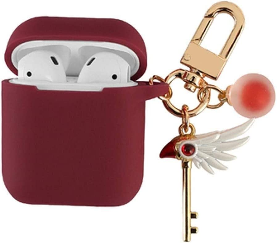 RENKUNDE Wireless Bluetooth Headset Box Silicone Case Cover Five Colors Can Be Selected to Be Lightweight and Easy to Carry Wireless Bluetooth Headset Color : Deep red