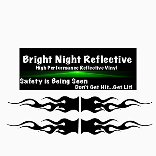 (Flame decals reflective (2) 1.25