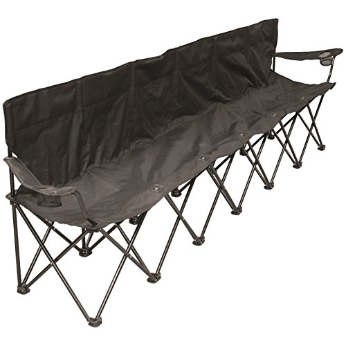 (Creative Outdoor 6-Person Folding Bench Seat Chair | Portable & Collapsible | Beach Camping & Sports Team |)