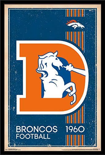- Trends International Denver Broncos - Retro Logo Wall Poster, 24.25