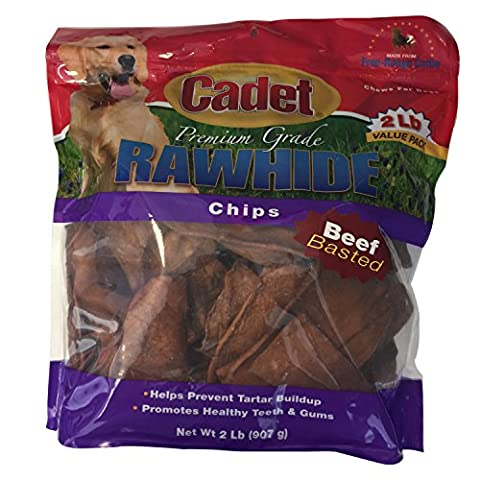 632982 Rawhide Basted Chips Value Pack Beef, 2 lb, 1Piece - 2 Lb Beef
