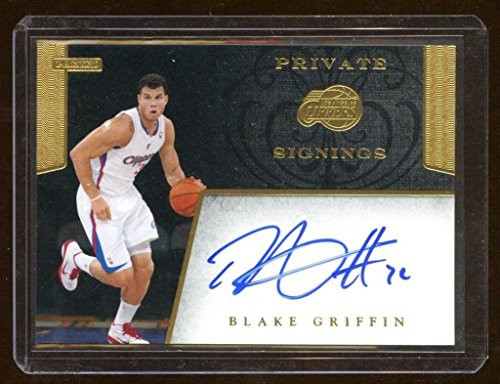- Blake Griffin 2011 Panini Private Signings Auto Sp Super Rare Never Seen Auto - Panini Certified - Basketball Autographed Cards