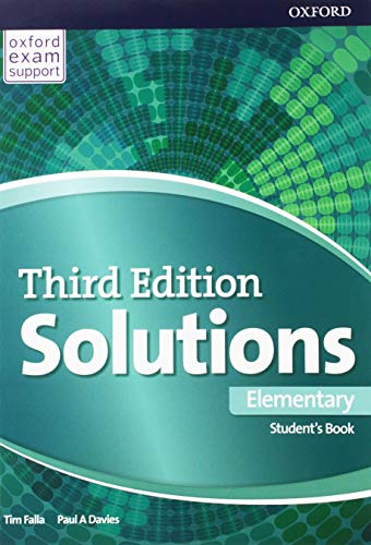With 100% new content, the third edition of Oxford's best-selling secondary course offers the tried and trusted Solutions methodology alongside fresh and diverse material that will spark your students' interest and drive them to succeed. The manufacturer provides us with this product with random covers. It is impossible for us to provide you with the product with a particular cover. Upon confirming your purchase, you will receive the product with one of the covers shown in the image or in the title, depending on availability. Thank you very much for your understanding. Cover may vary