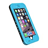 iPhone 6 Waterproof Case, iThrough Stand Function Waterproof Case, Dust Proof, Snow Proof, Shock Proof Case with Touched Transparent Screen Protector, Heavy Duty Protective Carrying Cover Case includes a 3.5mm AUX Cable for iPhone 6 (4.7 inch)